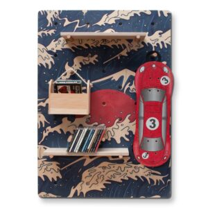 pegboard-fale-z-czerwonym-słońcem-półki